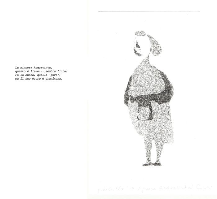 la signora acquatinta scritta